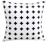 Estilo del norte de Europa Geometría Estuche de almohada con estampado de blanco y negro Cojín suave Resumen Funda de cojín para sofá Cojín de tiro 2 Impresión de lado superior