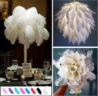 Düğün Dekor Aksesuarları Düğün Dekorasyon GB834 Yapımı DIY Takı Craft 15-20 cm Güzel ucuz Devekuşu Tüyler