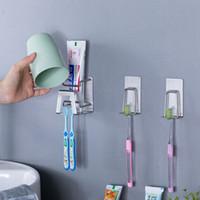Porte-brosse à dents en acier inoxydable punch sans support mural Salle de bain Brosse à dents Dentifrice Accueil rack Accessoires de bain étagère HHA1185
