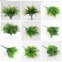 Plastic nep gras bloemen Perzische kunstmatige groen plant muren matching materiaal simulatie planten tuin decoratie LXL221-A