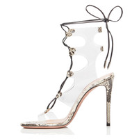Summer Sandals High Heels 2019 Sexy Transparent Gladiator Sa...