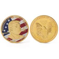 2019 Donald Trump Präsident Commemorative Challenge Münze machen Amerika wieder groß Gold / Silber überzogene Sammlerstücke