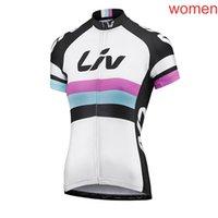 LIV equipo ciclismo manga corta jersey verano de manga corta de manga corta, secado rápido transpirable, a prueba de viento, a prueba de viento, ropa de bicicleta