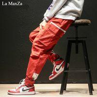 La MaxZa хип-хоп трек зимние тренды тренировочные брюки уличная одежда плюс толстый большой код маленькие ноги мужские брюки корейская мода