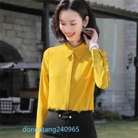 BS981 primavera nueva oficina OL Cadual camisa de manga larga de las señoras de la blusa Tops tamaño extra grande de las mujeres blusas de trabajo camisas XS-4XL