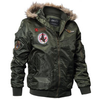 Дизайнер куртка Повседневный армии Ma1 Pilot Мужские куртки с 77 Город Printed Осень Зима Bomber бомбер Мужской капюшоном Пальто Совершенная M-4XL