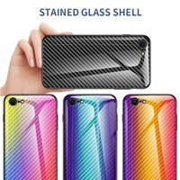 Curbon Fiber Gradient Phone Case For iPhone S 2020 11 Pro Max XR X 8 7 6 5 S Tempered Glass Cover Coquille