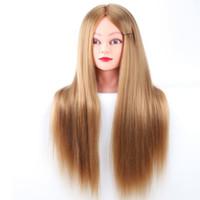 Mannequins Head Testa Lunga Fibra di fibra di fibra di fibra di fibra di Tranning teste Cosmetology Doll Wig per parrucchieri Display con supporto a morsetto gratuito
