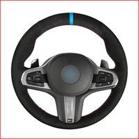 Black Suede Hand Sew-Lenkrad-Abdeckung für BMW M Sport G30 G31 G32 G20 G21 G14 G15 G16 X3 G01 X4 G02 X5 G05 Zubehör