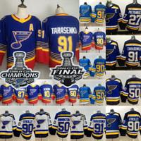 91 Vladimir Tarasenko 2019 Stanley Cup Champions St. Louis Blues 50 Binnington Alex Pietrangelo 90 Ryan O'Reilly Brayden Schenn Jersey