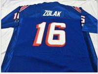 mulheres costume Homens Jovens Scott Vintage Zolak # 16 Equipe Emitido 1990 Football Jersey tamanho s-5XL ou personalizado qualquer nome ou número de camisa