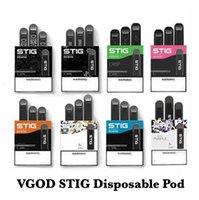 100% Original VGöD STIG jetable 8 couleurs Vape Pod appareil 3Pcs pack batterie 270mAh de cartouche Vape Pen Kit VS Myle Mini