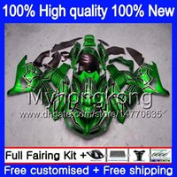 Инъекция для Kawasaki ZX-14R ZZR1400 ZX 14R ZZR-1400 Green Silver 25my.aa ZX14R 12 13 14 15 16 17 2012 2013 2013 2015 2015 2016 2017 OEM Fairing