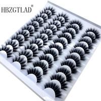 Hot 20 Paare 8-25mm falsche Wimpern 100% Mink Wimpern Mink Lashes Natürliche Dramatische Volume Wimpernverlängerung falsche Wimpern