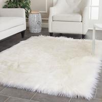 100x150cm Super Soft Schaffell flauschige Fell-Sofa-Abdeckung Faux Lammfell Teppich weicher Teppich Teppich nach Hause Fußboden