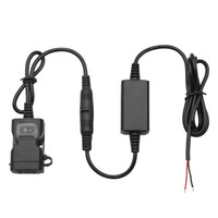 1PCS 3.1Amp ماء للدراجات النارية المزدوجة USB شاحن كيت USB محول سلك الهاتف اللوحي شاحن GPS مع سلك تسخير