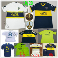 2019 2020 Boca Juniors Maillots de Football Gago Perez 7 Pavon 10 Carlitos TEVEZ BENEDETTO Sur commande à domicile Adulte Enfants Junior Football Maillot