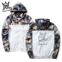 Frdun Lil Peep Sad Hooded Jackets Windbreaker Men Jackets Co...