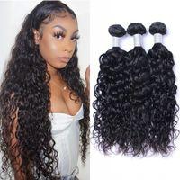 Bundles Vague 3 Pièces cheveux indiens Weave Bundles 100 g / pc Double Drawn Vierge humaine Bundles cheveux