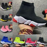 2020 Kids Speed Runner Sock Zapatos para niños Calcetines Zapatos Botas Entrenadores infantiles Luz Adolescente Luz y Zapatillas Cómodas Zapatillas Running Chaussures