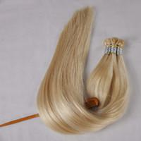 """300strands Flat Tip Keratin Hair، تمديدات الانصهار للشعر مزدوجة الشعر التمديد ريمي 1.0g s 300G Pre Bonded 16 '' 18 """"20"""" 22 """"، Free DHL"""