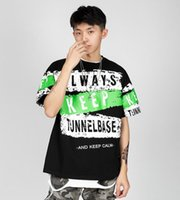 Summer Mens T Shirts With Letters Hip Hop Fashion Short Sleeve Men Tee Shirts High Quality Casual Tops for Male 2 Colors