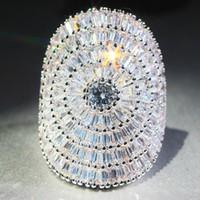 Yayi Bijuterias no corte da princesa Enormes 21 CT Branco Zircon cor prata anéis de noivado de casamento Anéis amante Anéis Partido 1027