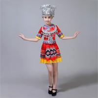 Sahne Giyim Kadın Dans Kostümleri Çocuk Kostüm Kız Moğol Çubuklarını Giyim Çin Halk
