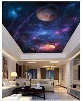 Personalizzato Grande 3d soffitto carta da parati foto Sky universo spazio alieno soggiorno camera da letto soffitto zenith murale decorazione carta da parati per pareti 3d