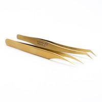 Freies Verschiffen Wimpernverlängerung Pinzette Gebogene Gerade Pinzette Wimpernverlängerung Nägel Entferner Maniküre Make-Up Nagel Werkzeuge