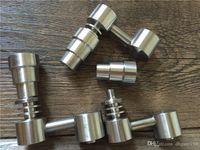 Erkek / Kadın 4 Cam bonglar kurulamak kuleleri Yüksek Kalite 1 GR2 Kubbesiz Titanyum Banger Çiviler Fonksiyonel Konsantre Aksesuarları