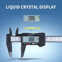 150 mm LCD Digital calibrador electrónico digital vernier de plástico Pie de rey con la batería micrómetro herramienta de medición VT1688