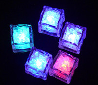 HOT LED Party Lights Color Changing LED ice cubes Glowing Ic...