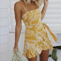 Vestidos Verano 2019 Off Shoulder Mini Dress Summer Print Be...