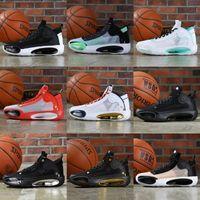Jumpman 34 zapatos para hombre XXXIV SE Guo Ailun Boys Blue Bayou Negro Gris estrella del baloncesto aj Diseñador 34s entrenadores deportivos Tamaño 40-46 zapatillas de deporte