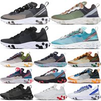 2020 Reagir Elemento 87 55 Running Shoes Homens Mulheres Antracite Luz óssea Triplo Black White Red Orbit Moda Mens Sports Sapatilhas 36-45