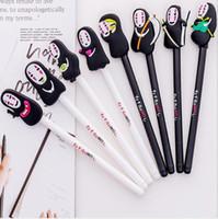 Miyazaki Hayao Animasyon Siyah Ink 0.5mm Jel Kalemler İnce Man Ruhların Kaçışı Gizli Jel Kalem Yazma Büro Okul HA409 Malzemeleri