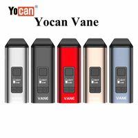 100% original Yocan Vane Kit Main Vaporizador de hierbas secas viene con 1100mAh Batería Cámara de Calefacción Cámara de Calefacción Oled Diseño