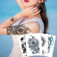 Kadın Erkek su geçirmez Geçici Beden Sanatı Dövme Çıkartma Boy Kız Kağıt Sağlığı Sahte Siyah Saat Dövme Zaman Çiçek Takı Kolye Tasarımı