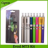 Evod MT3 blister starter kits E-cigarette kit mt3 tank e cigarette EVOD atomizer Clearomizer Evod battery vs battery blister 0209011-1