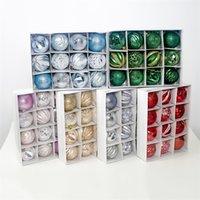 12pcs en una caja de 6 cm Bola de Navidad de PVC Árbol de decorar las bolas de visualización para el partido Fiestas 8 9cj UU