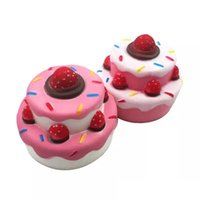 Strawberry Cake PU Cute Lovely Cartoon Pendant Kawaii Squish...