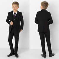 Black Boy Formal Suits Wedding Dinner Tuxedos Little Boy Gro...