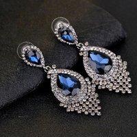 Kristal Elmas Küpe Çiviler Dangle Kulak Yüzükler Düğün Moda Takı Kadınlar Için Will ve Sandy