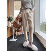High waist woolen pants female autumn and winter 2019 new lo...