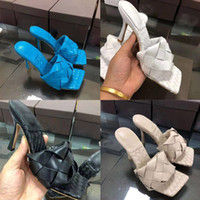 الأزياء والأحذية الفاخرة مصمم النساء الكعب العالي مربع إصبع القدم صندل LIDO SANDALS في NAPPA مصمم المتزلجون نسج المتزلجون النساء الزفاف مضخات