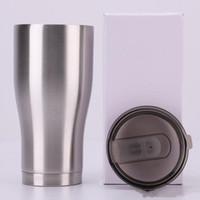 Vasos curvos Forma de la cintura Tazas de agua Taza de viaje Taza de cerveza de café Botella de agua de acero inoxidable Vaso clásico de 12 oz Diseño de tapa con tapa