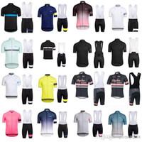 Rapha 남자 사이클링 저지 사이클링 의류 Ropa Ciclismo 짧은 소매 자전거 셔츠 MTB 자전거 젤 패드 턱받이 반바지 세트 33015