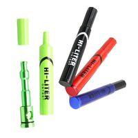 Hallo Liter Marker Pen Pfeifen Metall Löffel Kräuter Tabak Zigarette Pipe schleichen ein Toke Click n Vape 4.9 Zoll 4 Farben Rauchen Tools Geschenk