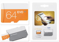 2019 Pass H2testw Test 100% Capacité totale réelle Authentique 32 Go 64 Go 128 Go Carte mémoire Micro SD Orange EVO Classe 10 pour appareils photo intelligents